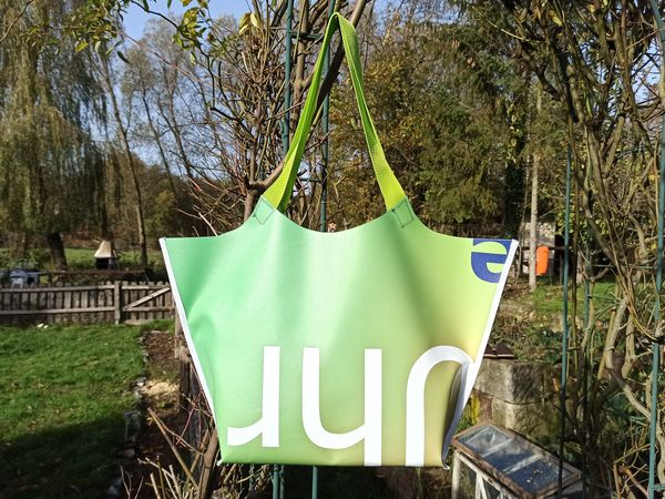 upcycling Werbebanner Shopper